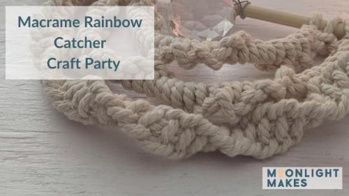 KIT and TUTORIAL Macramé Rainbow Catchers