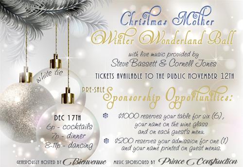 $1000 Winter Wonderland Ball Sponsorship