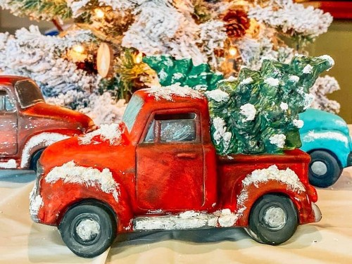 Truck and Tree Ceramic