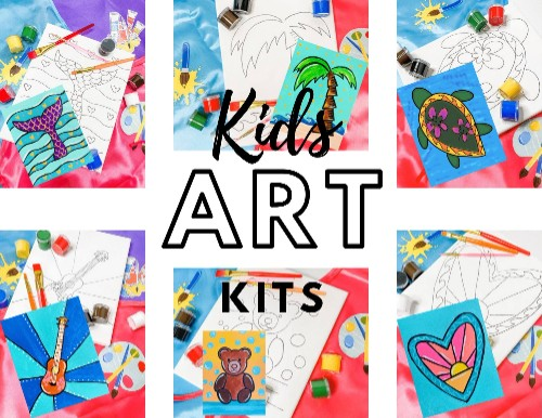 Creative Kid's Art kits (Canvas)