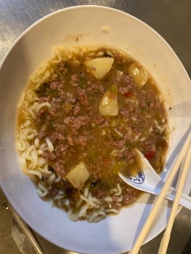Dunkel's Green Chile Stew Ramen