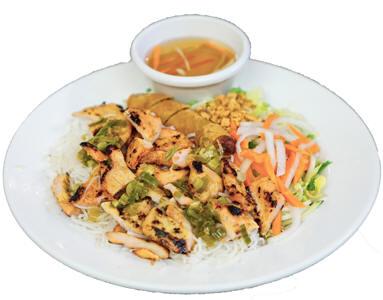 #50-Rice Vermicelli Bowl - Bún heo; bò; gà và chả giò và tôm