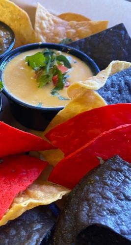 Chile con queso and Tortilla Chips