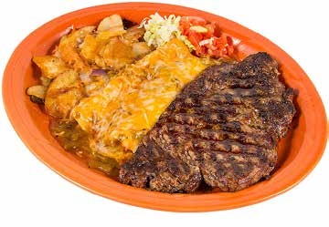 D/I Ribeye Steak and Enchiladas