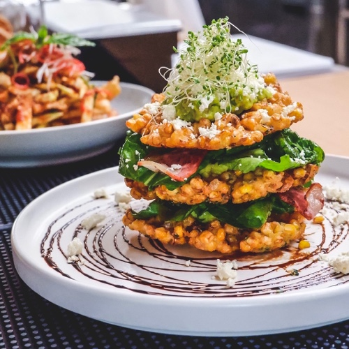 Corn Fritters Stacks