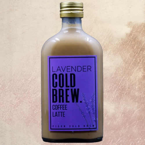 Lavender Cold Brew Coffee Latte