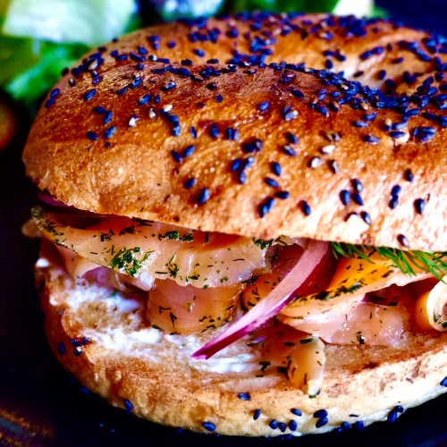House Cured Salmon Bagel
