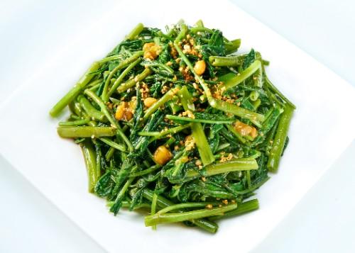 Stir Fried Ong Choy / Cah Kangkong Belacan