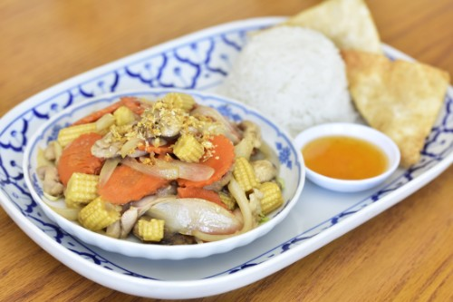 Baby Corn With Chicken or tofu
