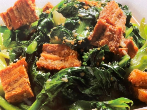 Chinese Broccoli with Crispy Pork