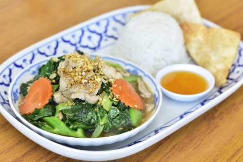Chinese Broccoli with Chicken or Tofu