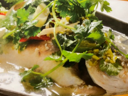 Steamed Fish with Lemon Sauce