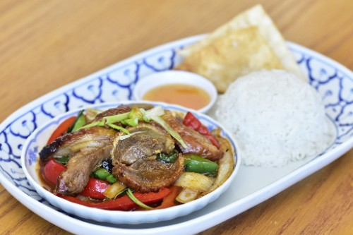 Spicy Basil Duck
