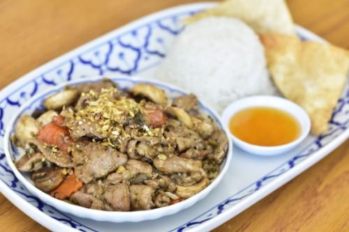 Garlic and Pepper Pork or Tofu