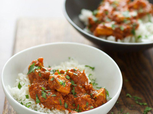 Indian Chicken Curry with Cumin Rice