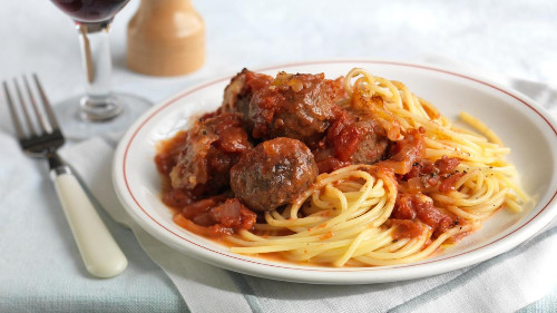 Meatball In Tomato Sauce with Pasta