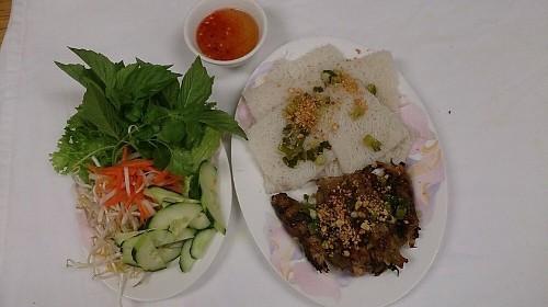 46 - Steamed Vermicelli W/Grilled Onion Beef - Bánh Hỏi Bò Nướng