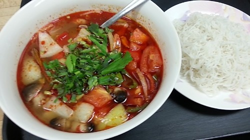 86 - Sweet & Sour Seafood Thai Style - Canh Hải Sản Thái Lan