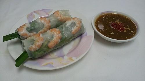 3 - Shrimp & Pork Spring Rolls (2 Rolls) - Gỏi Cuốn