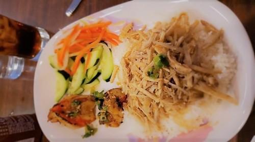 56 -  Broken Rice With Shredded Pork & Shrimp - Tấm Bì Tôm Nướng