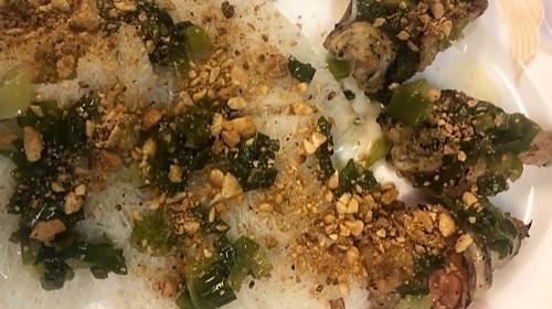 43 - Steamed Vermicelli With Prawn - Bánh Hỏi Tôm Nướng