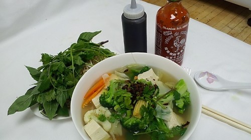 22 - Rice Noodle Soup With Tofu & Vegetables - Hủ Tiếu Chay