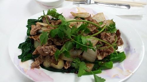 96 - Sautéed Beef With Chinese Broccoli - Bò Xào Cải Làng
