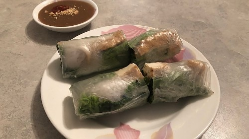 1 - Vegetarian Tofu And Vegetables Spring Rolls - Gỏi Cuốn Chay