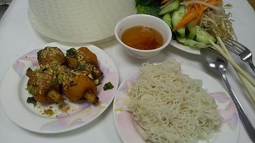 45 - Shrimp On Sugarcane With Rice Paper - Bánh Tráng Chạo Tôm