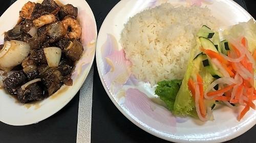 104 - Sautéed Shrimp & Pork Spare Ribs - Tôm Sườn Rim Mặn