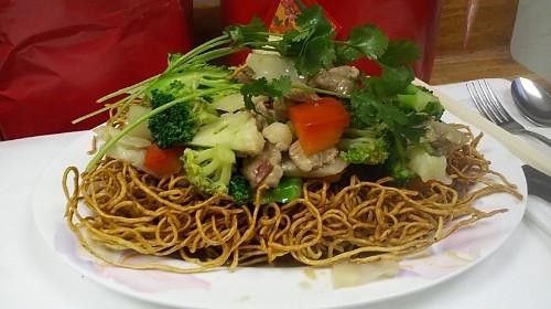 48-Combination Pan Fried Noodle (Crunchy) - Mì Xào Dòn Thập Cẩm