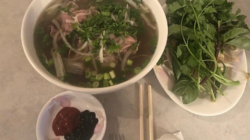 12 - Combination Beef And Rice Noodle - Phở Tái Nạm, Gầu, Sách