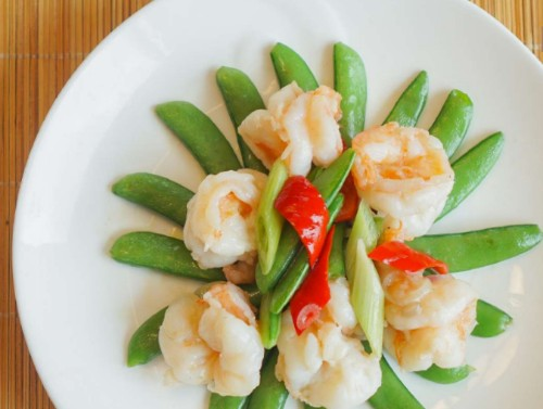 Prawns with Sweet Pea