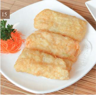 Fried Tofu Skin With Shrimp