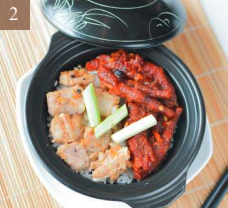 Claypot Rice with Pork Ribs and Chicken Feet