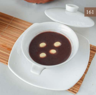 Sweet Red Bean Soup with Lotus Seeds (hot)