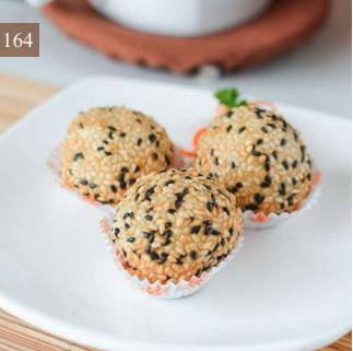 Deep Fried Sesame Custard Ball