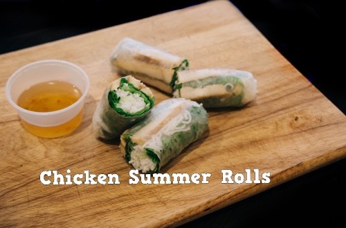 Chargrilled Chicken Summer Roll (Gỏi cuốn gà)