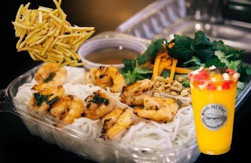 Grill Shrimp Vermicelli Combo (Bún Tôm Nướng)