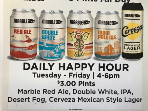 Happy Hour 4pm-6pm