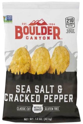 Boulder Canyon Sea Salt & Cracked Pepper Kettle Cooked Chips