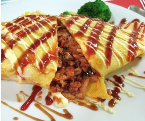 Omelet Rice(오므라이스, 鸡蛋盖饭) + Soup
