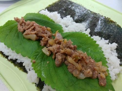 Bulgogi Gimbap 10pc (불고기 김밥, 烤肉紫菜包饭)