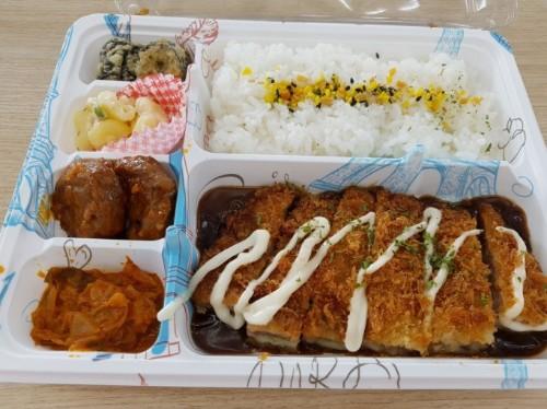 Pork Cutlet Lunch Box (돈가스도시락, 炸猪排里脊盒饭)