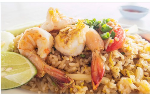 Shrimp Fried Rice (새우 볶음밥, 虾仁炒饭) + Soup