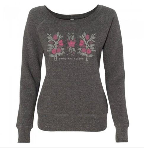 Ladies floral boatneck sweatshirt