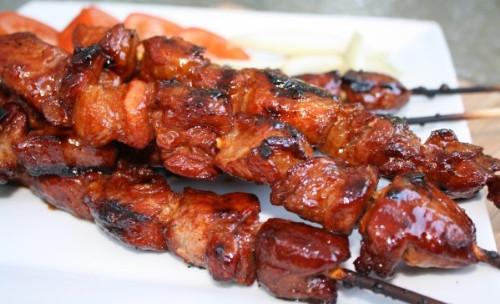 Pork BBQ (skewered)