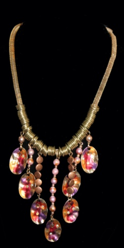 Necklace Bronze and beads