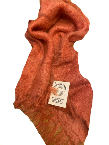 Orange African Baby Mohair Scarf