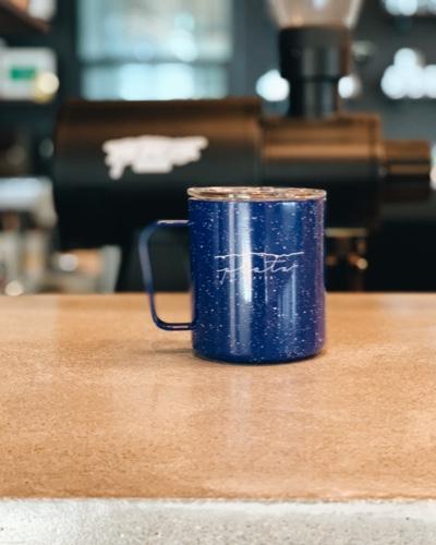 12 oz Blue Camp Mug